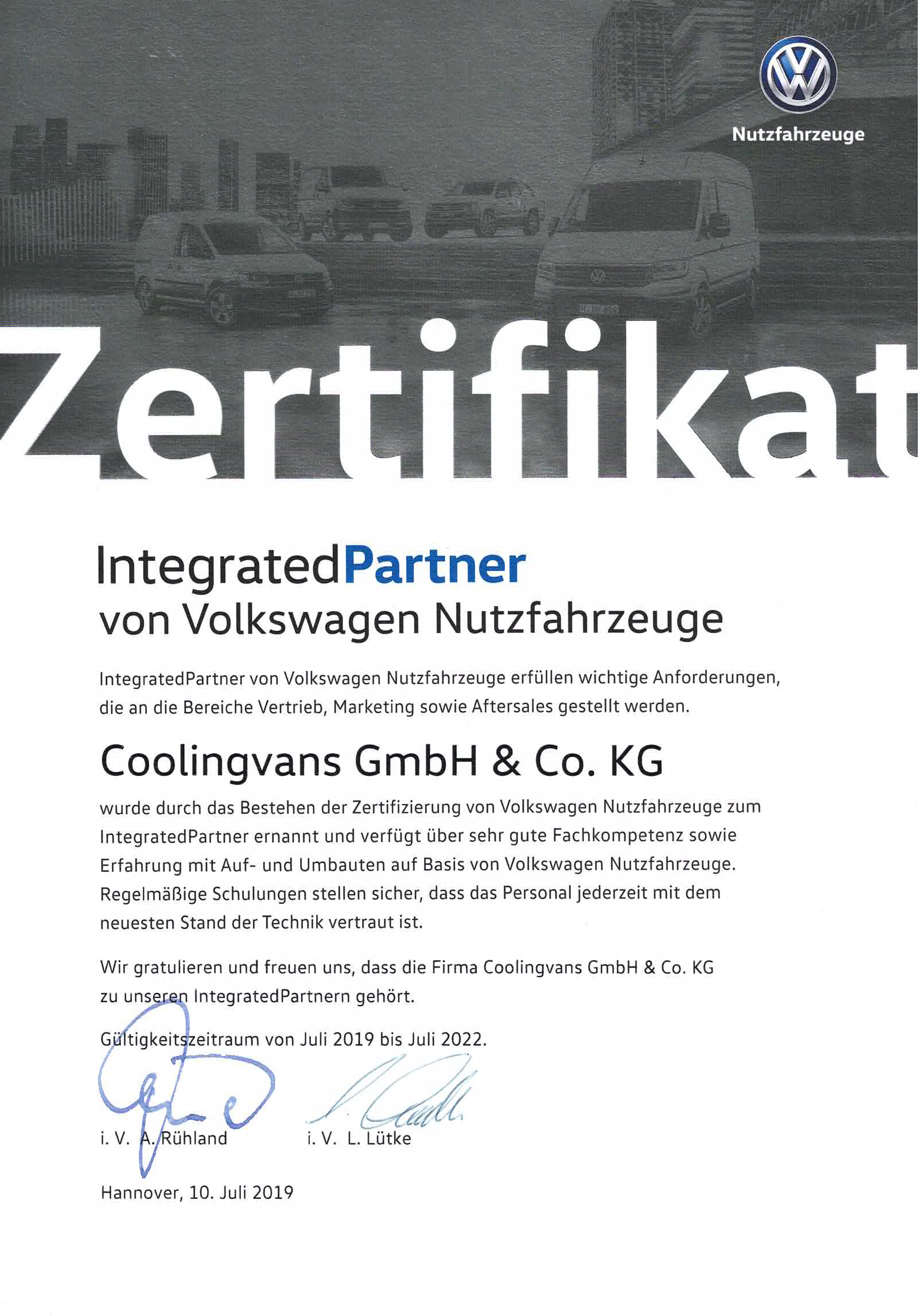 VW Integrated Partner
